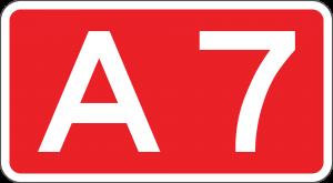 A7 autosnelweg naar Groningen